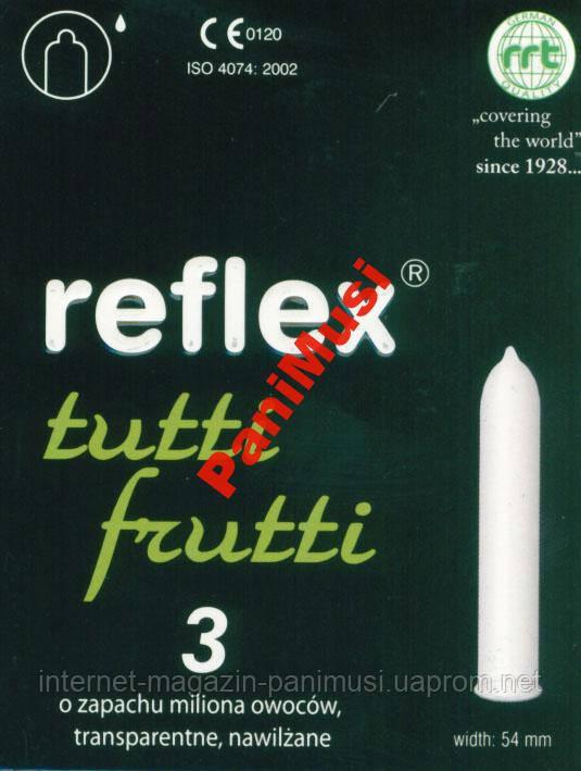 Презервативы  вкус мультифрукт Reflex Tutti Frutti Упаковка 3шт.