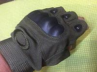 Перчатки тактические усиленные без пальцев р.М, L, XL, XXL хаки