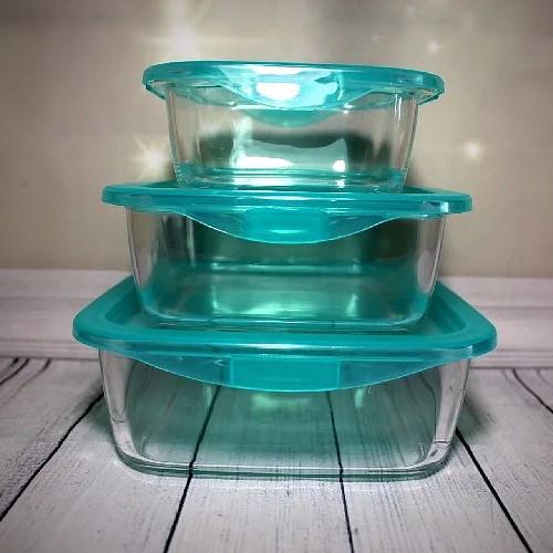 """Набор стеклянных пищевых контейнеров с герметичной крышкой Luminarc """"Keep'nBox"""" 3 шт (P7109)"""