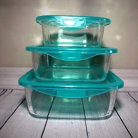 """Набор стеклянных пищевых контейнеров с герметичной крышкой Luminarc """"Keep'nBox"""" 3 шт (P7109), фото 2"""