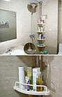 Угловая полка для ванной комнаты Multi Corner Shelf Стойка Стелаж, фото 10