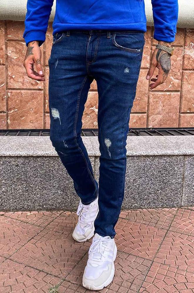 Джинсы мужские темно-синие B&G 4046