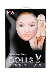 Надувна лялька Liliana з реалістичною головою, Toyfa Dolls-X, блондинка, з двома отворами, кібер