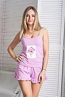 Пижама хлопковая П1101 Розовый