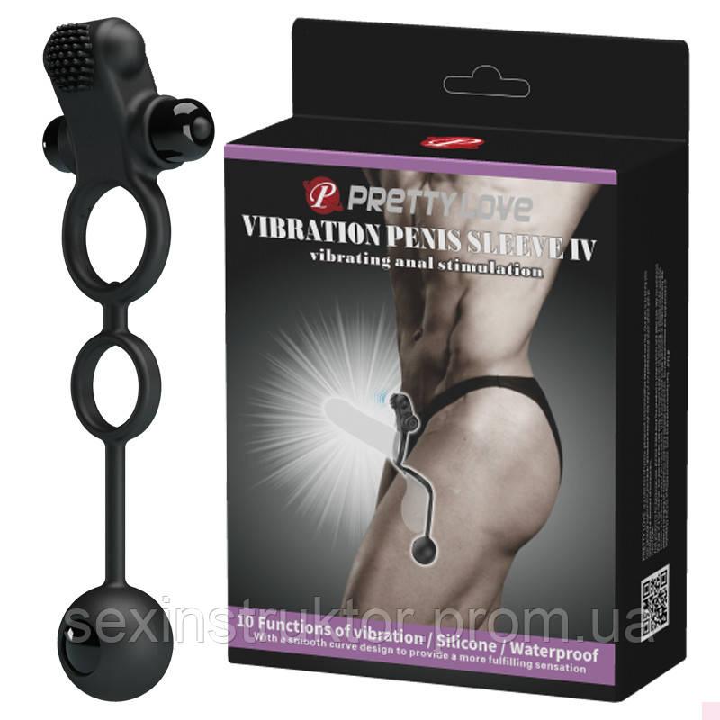 Насадка на член - Pretty Love Vibro Penis Sleeve Black IV