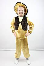 Карнавальный костюм для мальчика  Гриб Боровик (золотой)