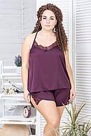 Пижама женская П812 Сливовый
