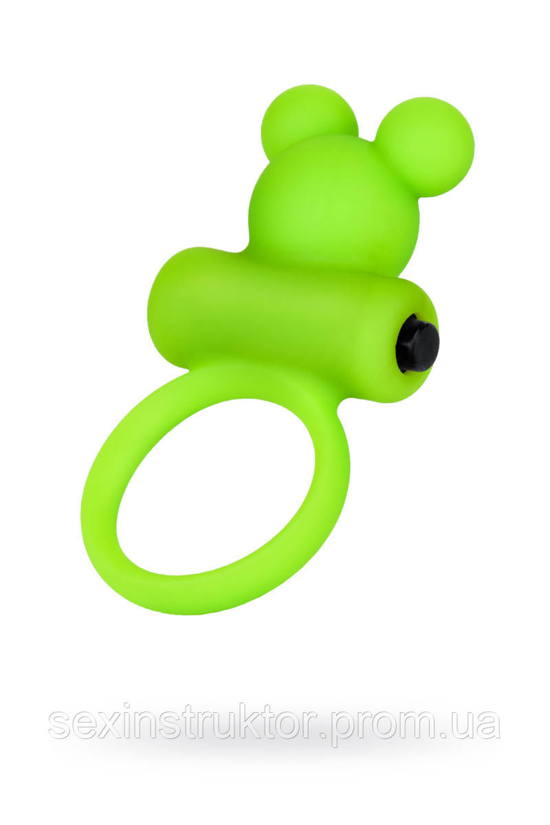Виброкольцо на пеніс A-Toys By Toyfa, силікон, зелене, ø 3,1 см