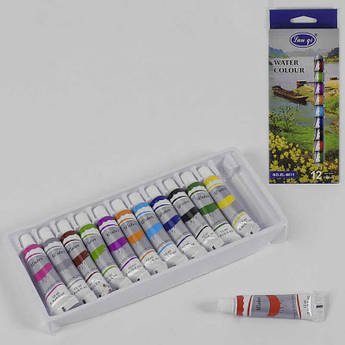 Акварельные краски 12 штук в упаковке SKL11-260801