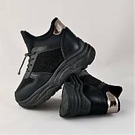 Зимние Женские Кроссовки Ботинки Черные с Мехом 36,38,39 размеры