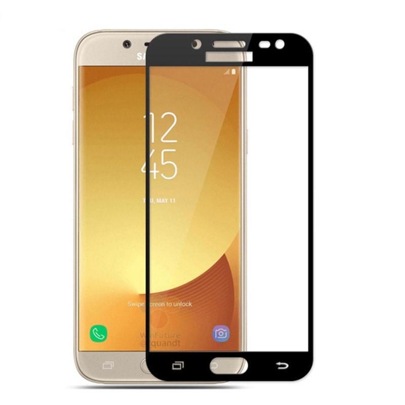 Защитное стекло Full Screen для Samsung J7 2015 J700 Black (10897)