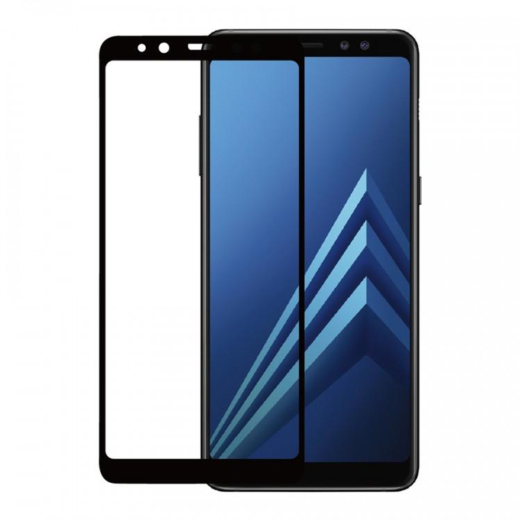 Защитное стекло Glass для Samsung Galaxy A8 Plus/A730 Черное (PG-000413)