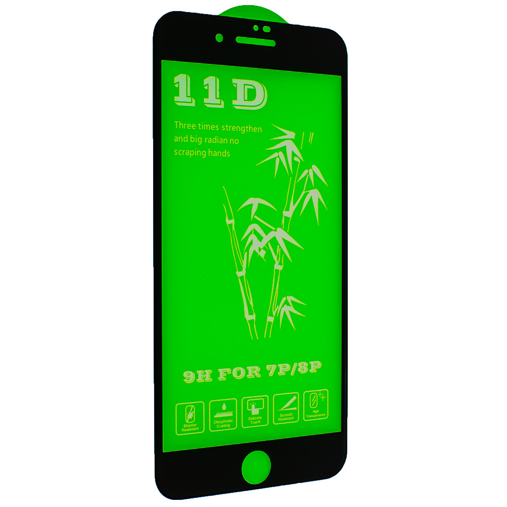 Защитное стекло 11D Mirror для Apple iPhone 8 Plus/ iPhone 7 Plus Black (7087)
