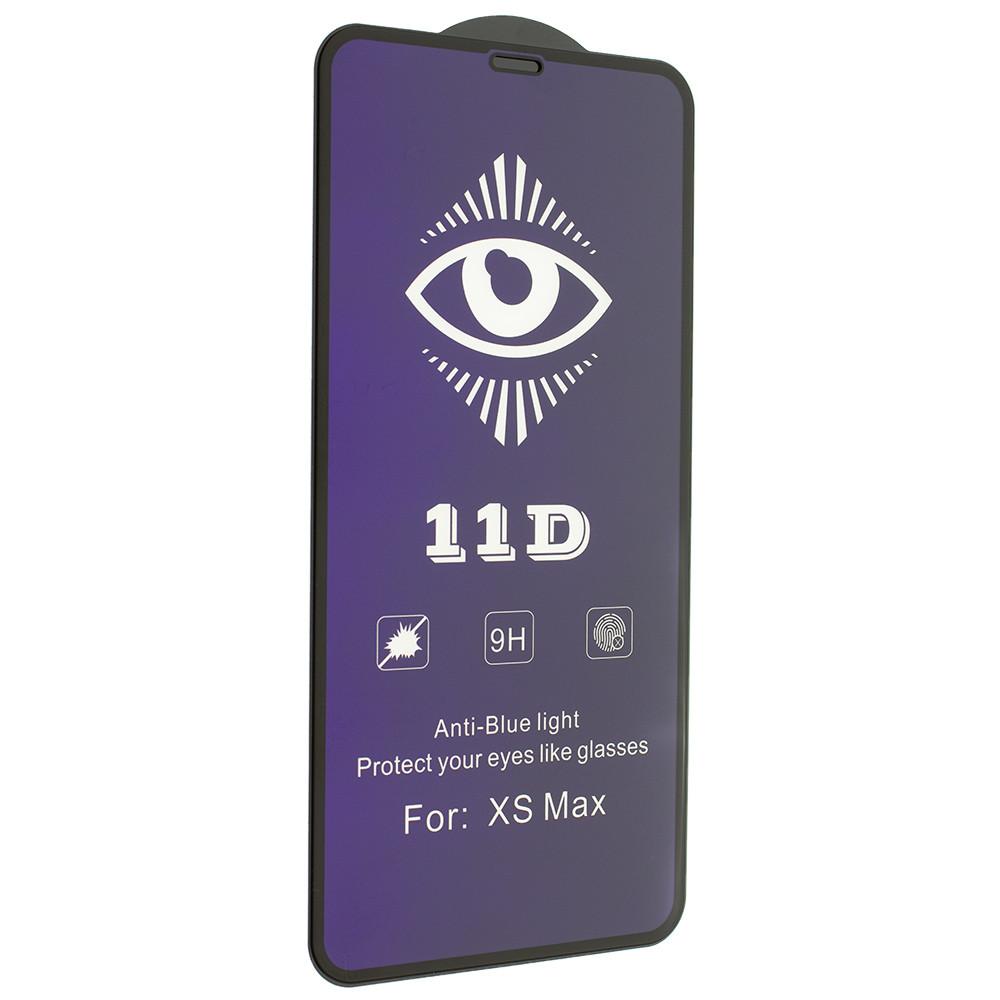 Защитное стекло 11D Mirror Anti Blue для Apple iPhone 11 Pro Max/ iPhone XS Max Black (7124)