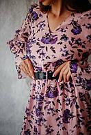 Романтическое женское платье длиной миди, фото 2
