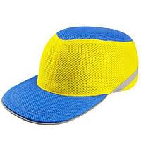 Каска-бейсболка ударостійка - синьо-жовта | VTR (Україна) PK-0014