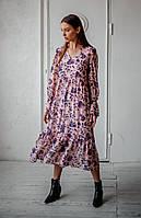 Романтическое женское платье длиной миди, фото 3