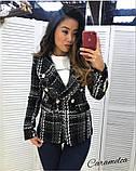Женский стильный пиджак копия Balmain ткань букле на подкладке, фото 2