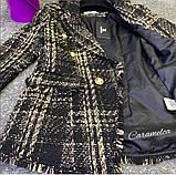 Женский стильный пиджак копия Balmain ткань букле на подкладке, фото 5