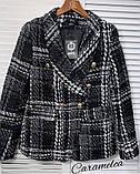 Женский стильный пиджак копия Balmain ткань букле на подкладке, фото 6