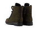 Стильные женские зимние замшевые ботинки Vikont зеленого цвета, фото 5