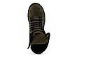 Стильные женские зимние замшевые ботинки Vikont зеленого цвета, фото 6