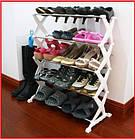 Полка стойка органайзер для обуви 5 полок 15 пар Shoe Rac Amazin, фото 9