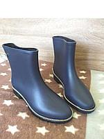 Женские синие резиновые сапоги короткие, фото 1