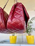 Женский клатч в стиле Коко бордовый СШ26, фото 4
