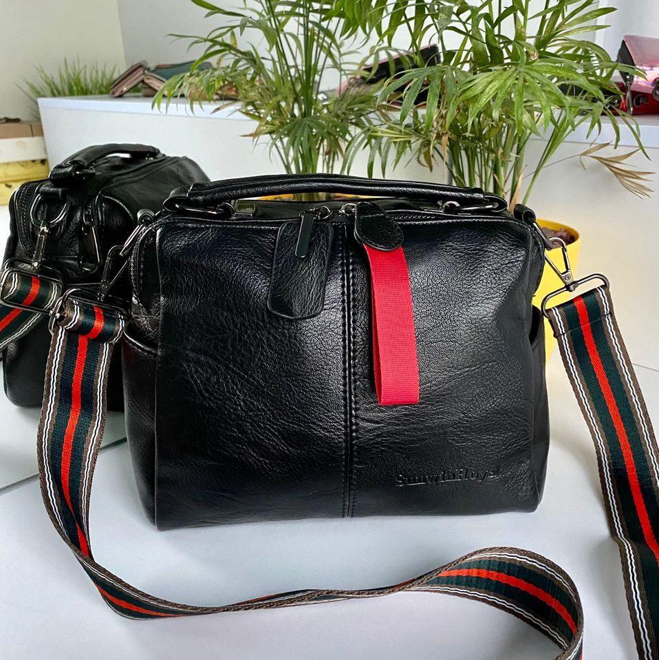Женская сумка Queens на два отделения черная ВК687