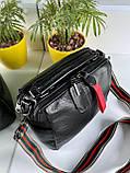 Женская сумка Queens на два отделения черная ВК687, фото 2