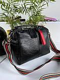 Женская сумка Queens на два отделения черная ВК687, фото 3
