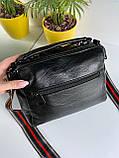 Женская сумка Queens на два отделения черная ВК687, фото 5
