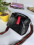 Женская сумка Queens на два отделения черная ВК687, фото 6