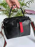 Женская сумка Queens на два отделения черная ВК687, фото 7