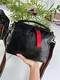 Женская сумка Queens на два отделения черная ВК687, фото 8