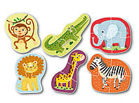 ХІТ! Набір великих пазлів,6 шт,Дикі тварини Dodo 300153,пазли зоопарк, фото 1
