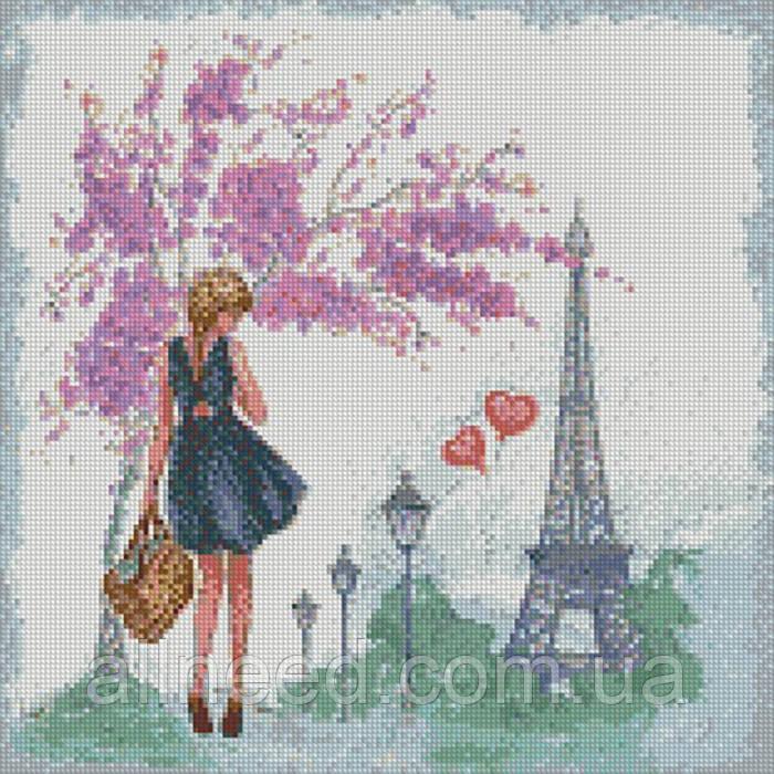 """Алмазная мозаика """"Прогулка по Парижу"""" 40*40см AM6044"""
