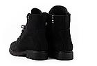 Стильні жіночі зимові замшеві черевики чорні матові Vikont, фото 5