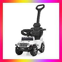 Детский электромобиль-толокар 2 в 1 трансформер с родительской ручкой Jeep M 4247 мотор 35 W