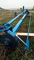 Вісь на причіп для мотоблоку з гальмами, тягами і педаллю (в зборі), фото 1