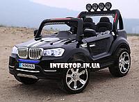 Детский электромобиль на пульте Джип BMW 4WD полный привод 4 двигателя M 3118 EBLR-3 черный