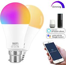Лампа 15W Е27 RGB LED світлодіодна мульти кольорова розумна Smart з управлінням зі смартфону по WiFi