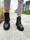 Стильные женские ботинки кожаные зимние черные U Spirit, фото 2