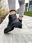 Стильные женские ботинки кожаные зимние черные U Spirit, фото 4