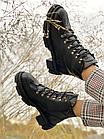 Стильные женские ботинки кожаные зимние черные U Spirit, фото 5