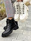 Стильные женские ботинки кожаные зимние черные U Spirit, фото 6
