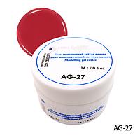 Гель Lady Victory AG-27 - 14 г, для дизайна ногтей («Светлая вишня»),