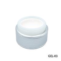 Гель Lady Victory GEL-03 - 30 г, для моделирования ногтей (Белый),