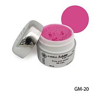 3D-гель Lady Victory (гель для лепки) GM-20 - 7 г, (Темно-розовый),